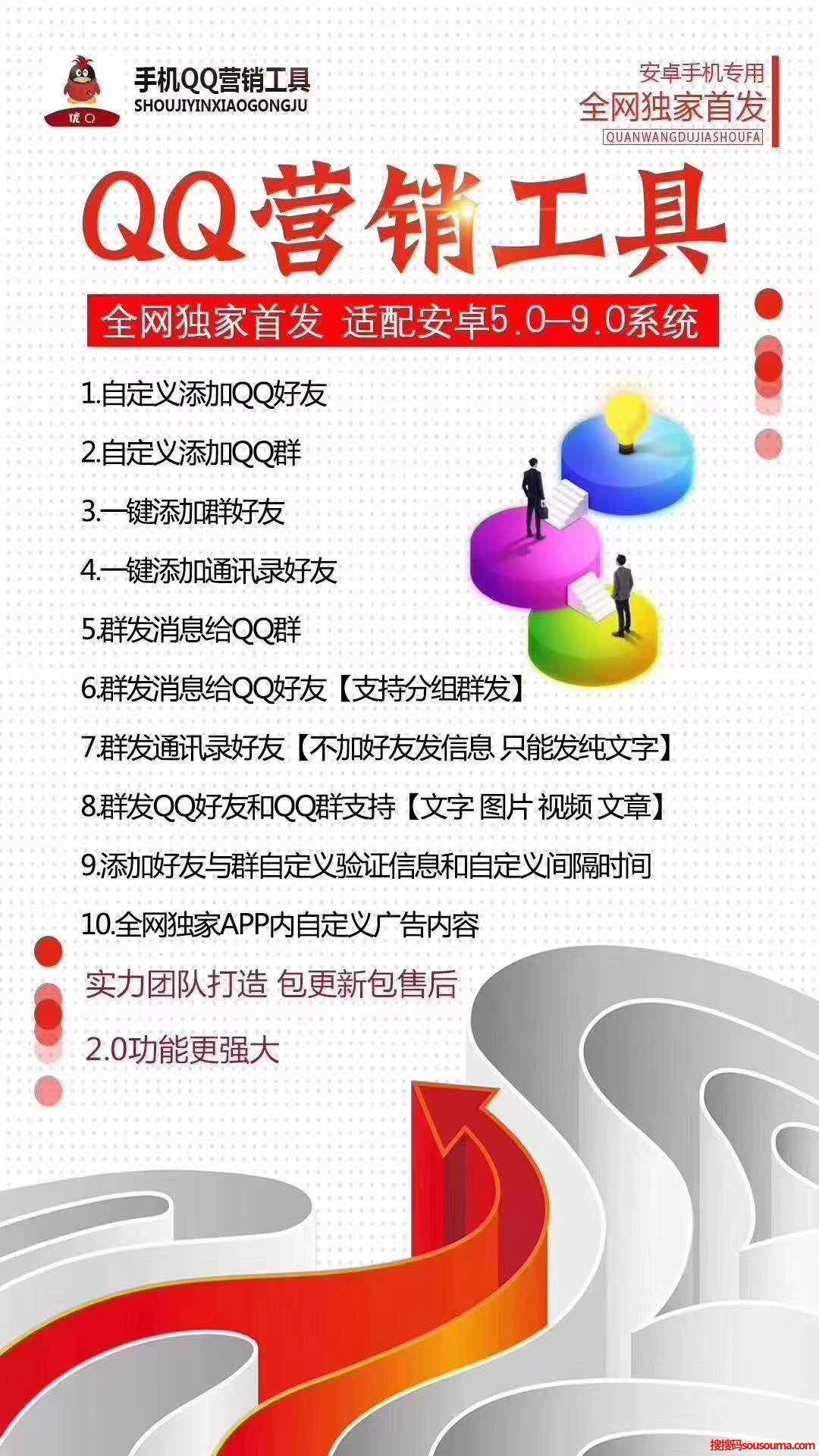 【手机QQ营销工具】安卓手机QQ营销工具一键操作添加好友群发登