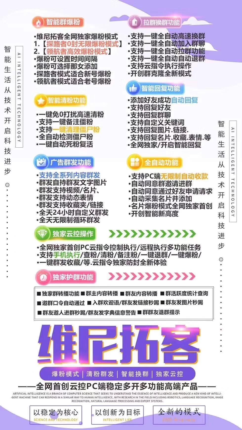 【维尼拓客官网】电脑版PC端新品微信营销综合软件首发版